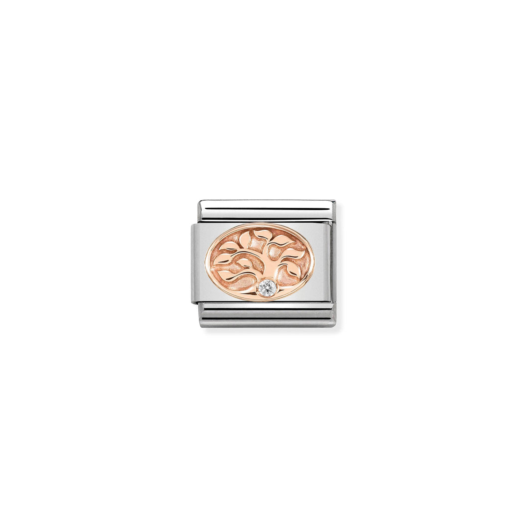 COMPOSABLE CLASSIC LINK 430305/12 TREE OF LIFE IN 9K ROSE GOLD & CZ