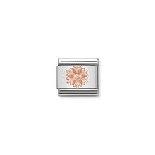 Load image into Gallery viewer, COMPOSABLE CLASSIC LINK 430305/23 SNOWFLAKE IN 9K ROSE GOLD & CZ