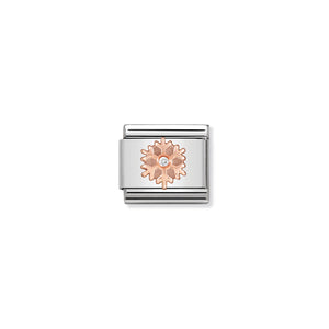 COMPOSABLE CLASSIC LINK 430305/23 SNOWFLAKE IN 9K ROSE GOLD & CZ