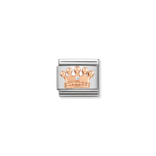 Load image into Gallery viewer, COMPOSABLE CLASSIC LINK 430305/24 CROWN IN 9K ROSE GOLD & CZ