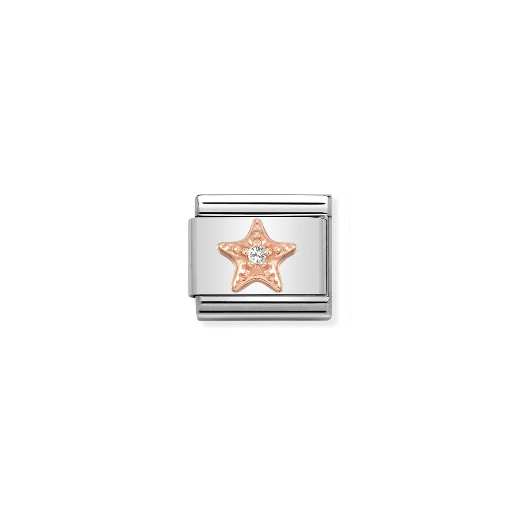 COMPOSABLE CLASSIC LINK 430305/27 STARFISH IN 9K ROSE GOLD & CZ