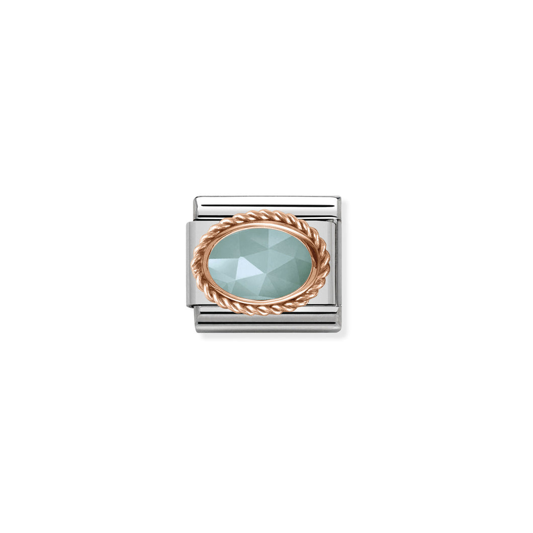 COMPOSABLE CLASSIC LINK 430507/32 AMAZONITE IN 9K ROSE GOLD