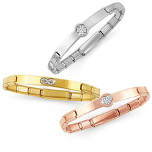 Load image into Gallery viewer, TRENDSETTER BRACELET 021135/022 ROSE GOLD PVD & CZ HEART