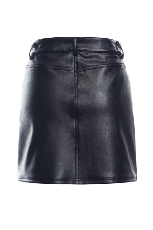 Rumi Vegan Leather Skirt