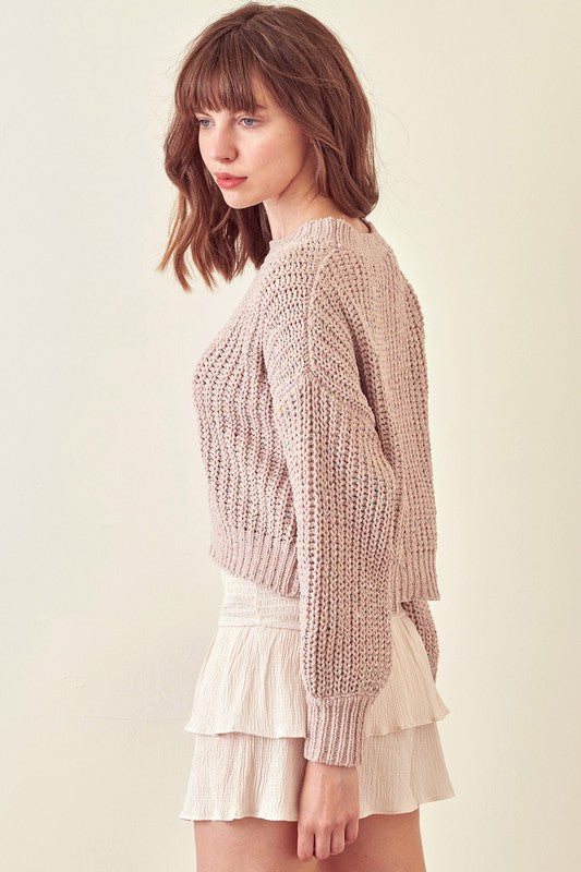 Sparkle Taupe Sweater