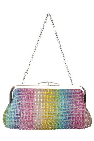 Rhinestone Rainbow Clutch