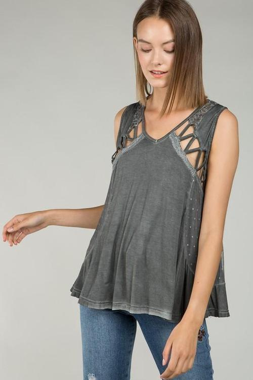Shoulderless Loose Fit Top
