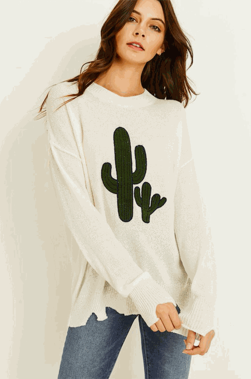 Cactus Sweater Top