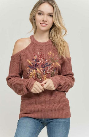 Dark Mauve Embroidered Top