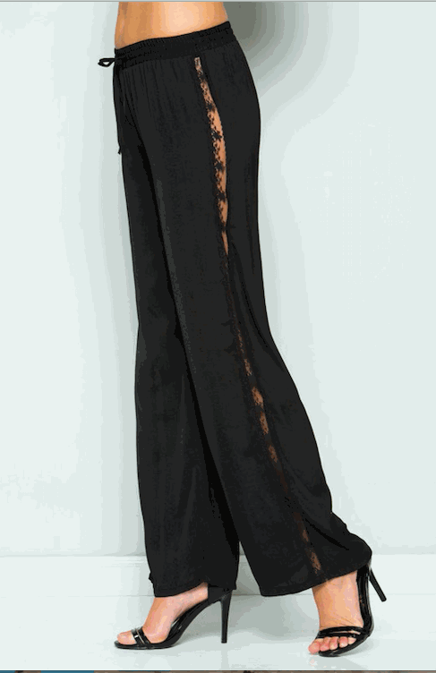 Side Laced Wide Pants