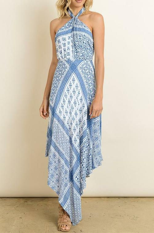 Scarf Halter Dress