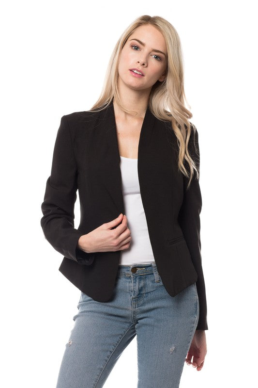 Black Criss Cross Jacket