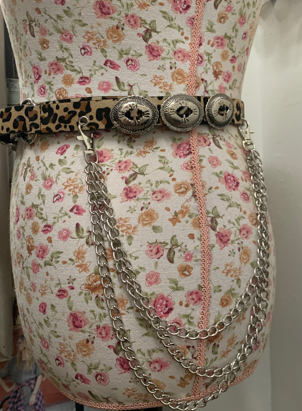 Animal Print Chain Belt
