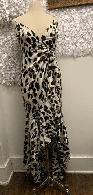 Leopard Ruffle Maxi Dress