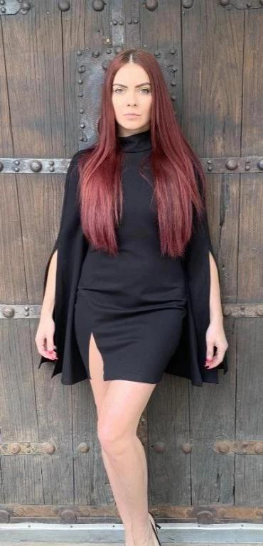 Extreme Bell Sleeve Mini Dress