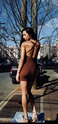 Cocoa Cross Back Rib Dress