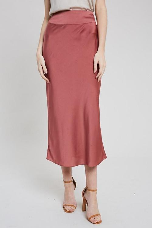 Marsala Skinny Long Skirt