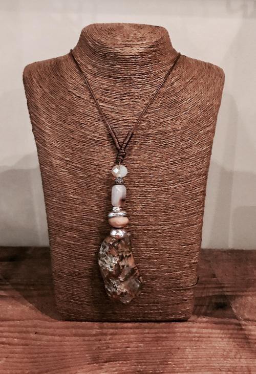Brown Rock Necklace