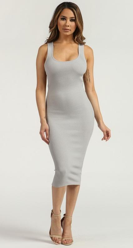 Silver Side Ring Dress