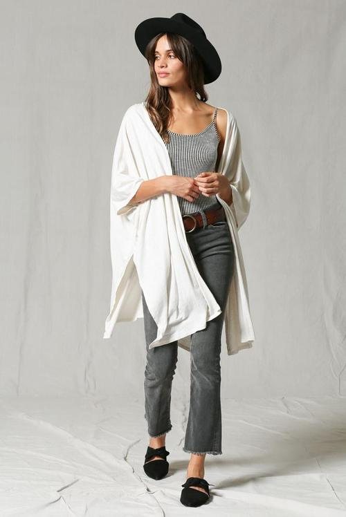 Clay Cotton Slub Cardigan