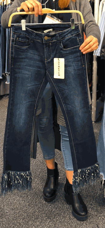 Fringe Accent Denim