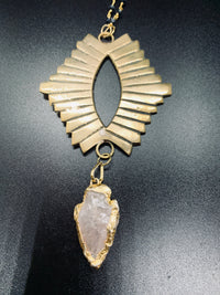 Egyptian Eye Necklace With Stone