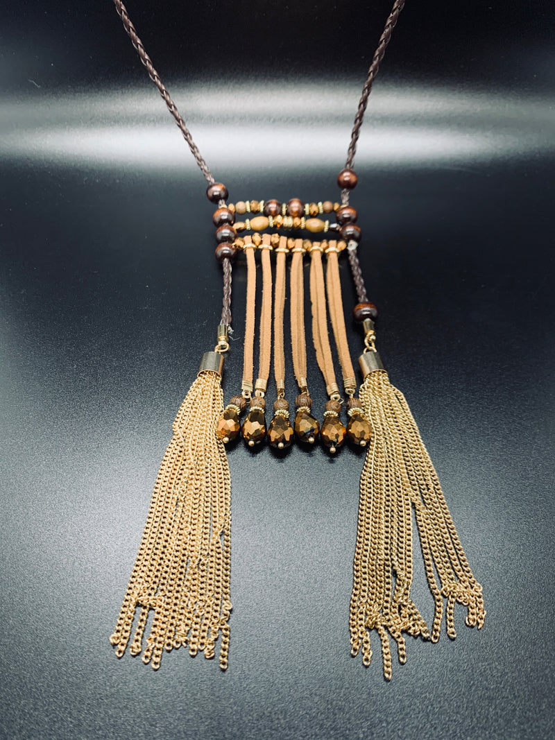 Fall Bohemian Fringe Necklace