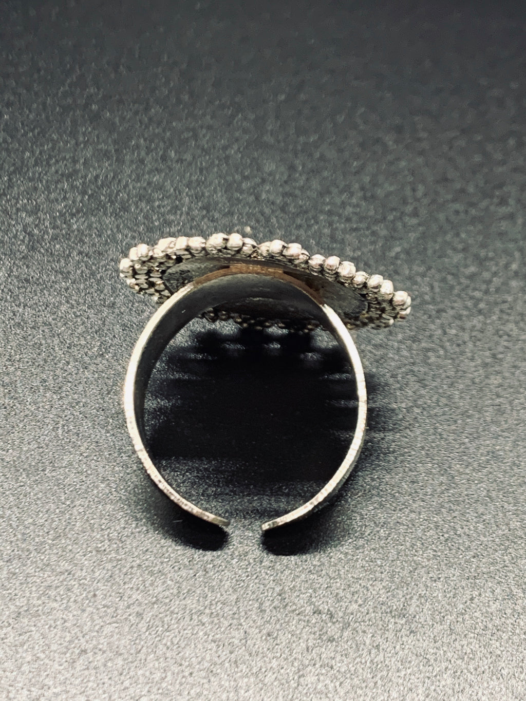 Bohemian Black Sun Adjustable Ring