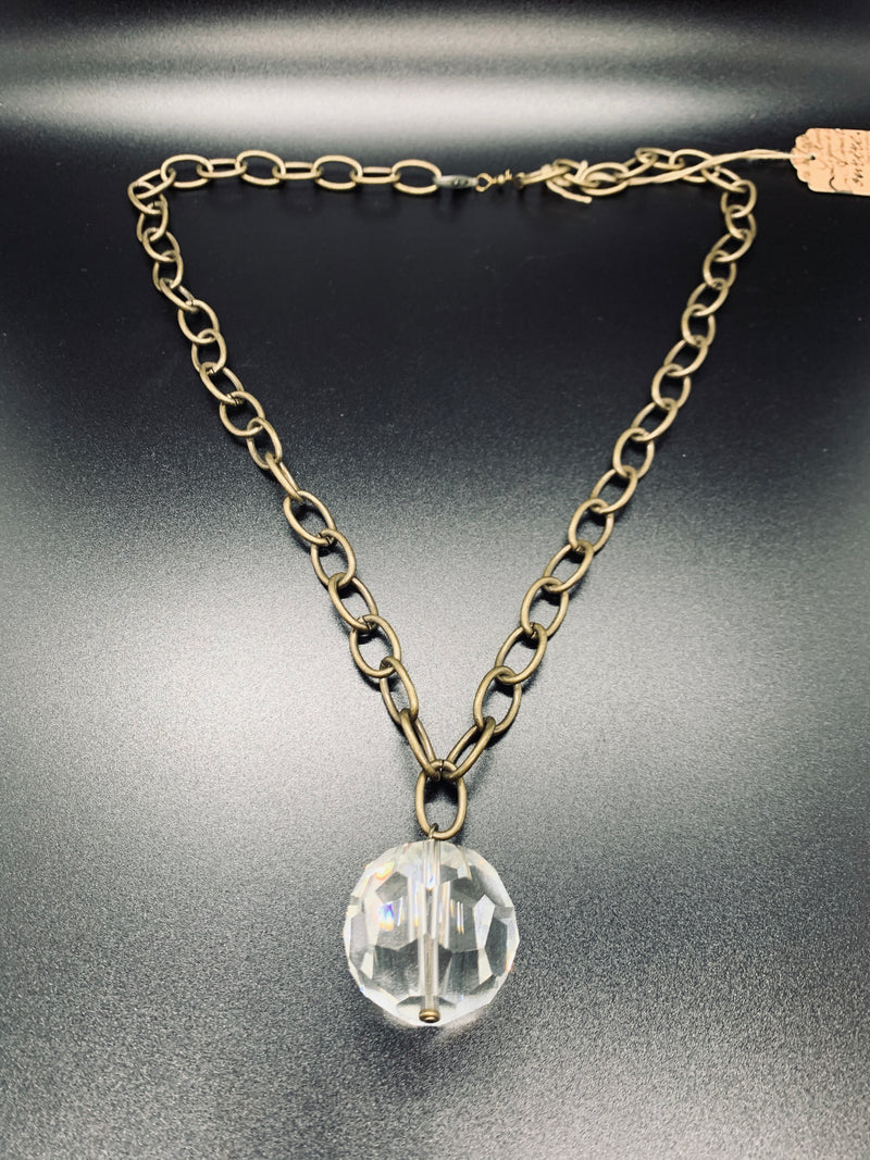 Industrial Crystal Ball Necklace