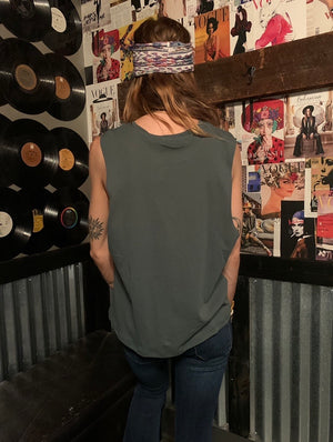 Dark Green Muscle Tank