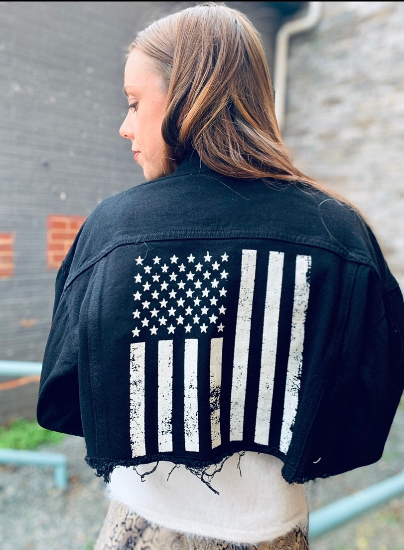 Painted American Flag Jacket