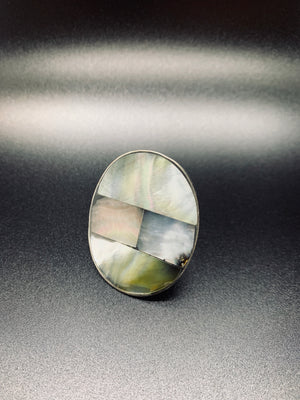 Adjustable OverSized Marble Ring