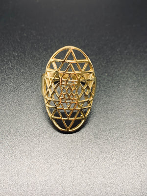 Golden Bohemian Abstract Ring
