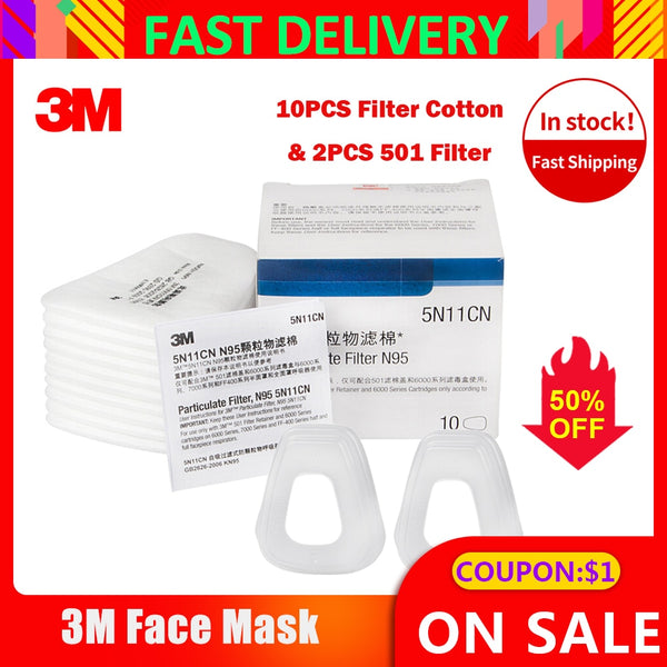 3m 5n11 Filter Cotton Respirator Filter cover N95 Particulate Filter For 3M Filter Cartridges for 6200/7502/6800 Series Gas Mask