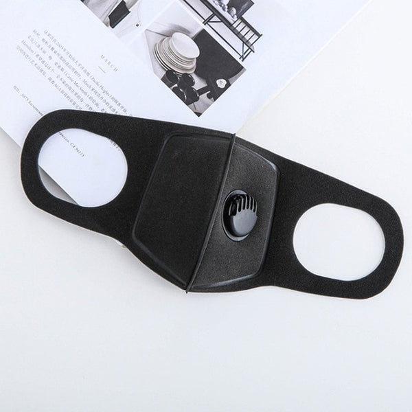 PM2.5 Mouth Mask Anti-Virus Influenza Anti-Dust Anti Pollution Mask for Man Woman Washable Cotton Black Mask N95 Level
