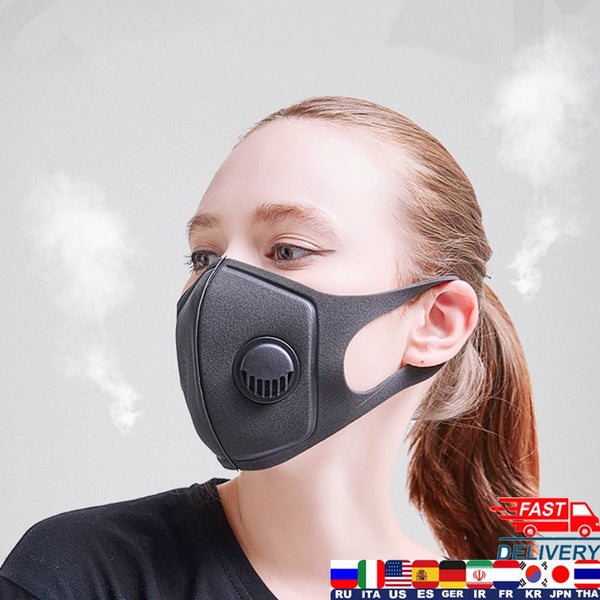 Black Anti Dust Mask For Men Women New PM2.5 Cotton Breathing Filter Valves Double Layer Unisex Dust Marks Mouth Mask N95 Mask
