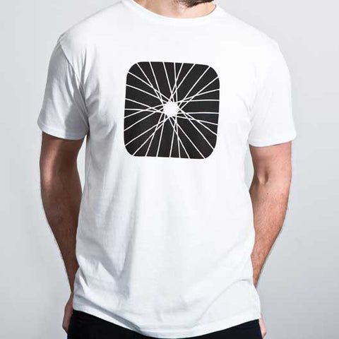 Organic cotton mens tee - Spoked