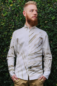 "Printed linen shirt ""Inspired"""