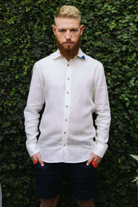 "Linen shirt ""Imperfect"" with Short pants ""3 sunsets"""