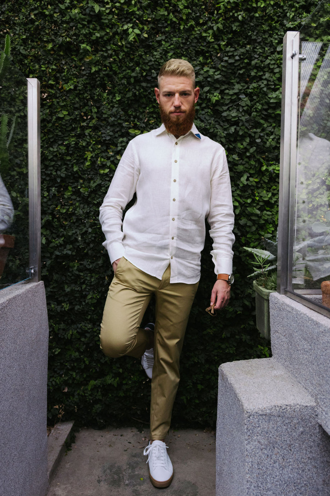 "Linen shirt ""Imperfect"" with Long pants ""Sand and sea"""