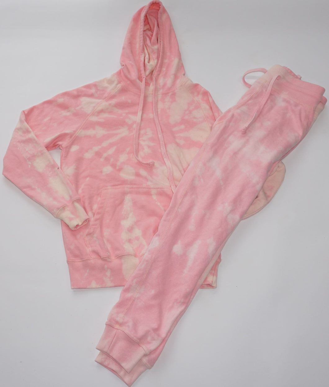 Joggers - Pink Bleach French Terry