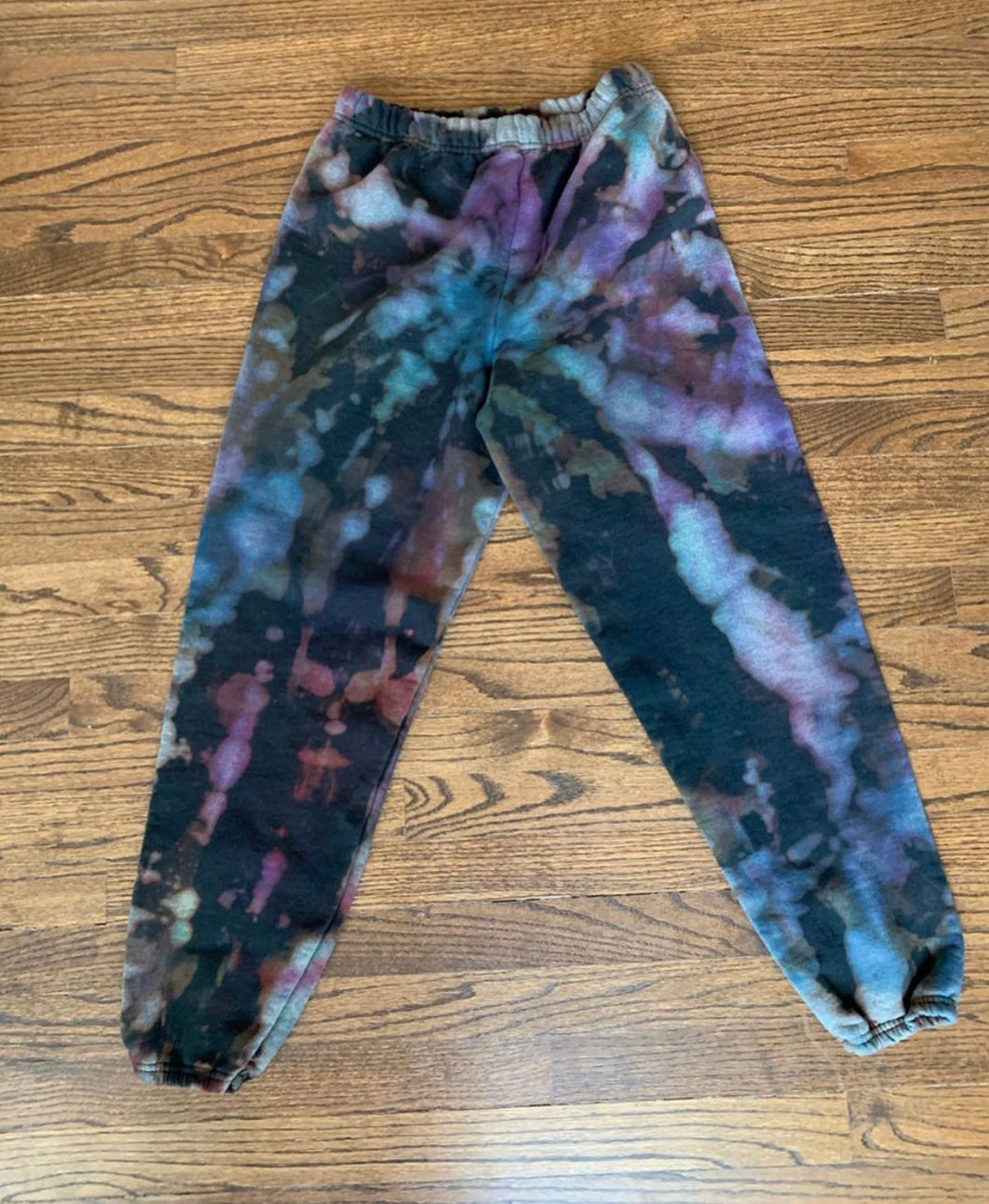 Reverse Tie Dye Sweatpants with Colors