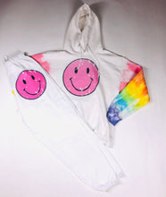Load image into Gallery viewer, Smiley Face with Rainbow Arms Hoodie