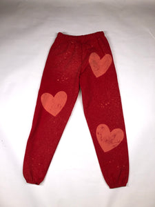 Red heart sweatpants