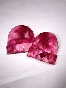 Pink and Red Tie Dye Hat