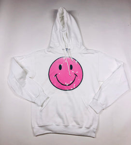 White Smiley Face Hoodie
