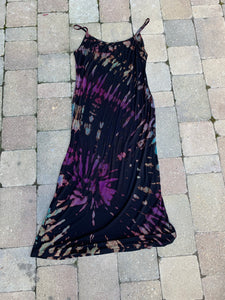 Reverse Dye Long Slip Dress