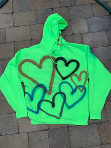 Spray Paint Heart Hoodie