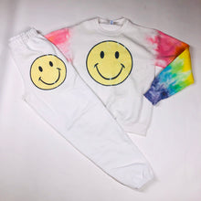 Load image into Gallery viewer, White Smiley Face Joggers/Sweatpants