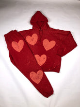 Load image into Gallery viewer, Red heart hoodie